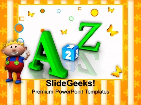 Alphabets Education PowerPoint Templates And PowerPoint Themes 0812