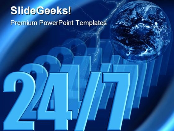 Always Open Business PowerPoint Themes And PowerPoint Slides 0411
