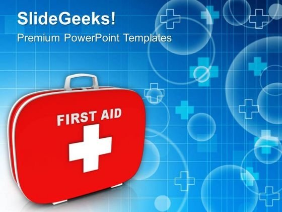 Always Prepare First Aid Box PowerPoint Templates Ppt Backgrounds For Slides 0613