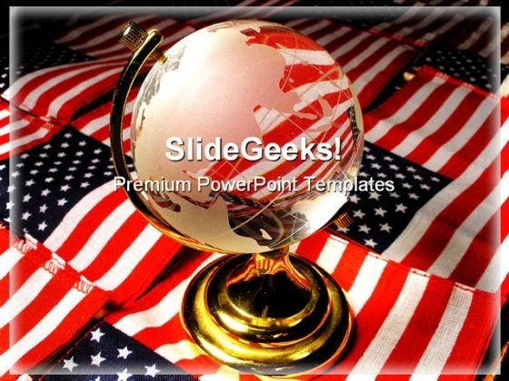 Ameri Globe PowerPoint Template 1110
