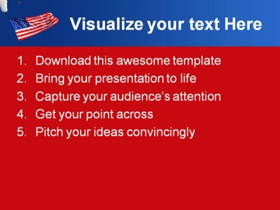 america_flag_holidays_powerpoint_template_1010_text
