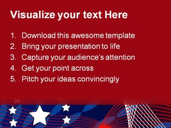 america_flag_star_abstract_powerpoint_template_1110_text
