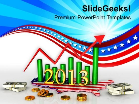 American Business Growth Year Money PowerPoint Templates Ppt Backgrounds For Slides 1112