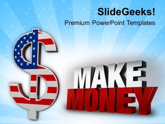 American Dollar Money PowerPoint Templates Ppt Backgrounds For Slides 0813
