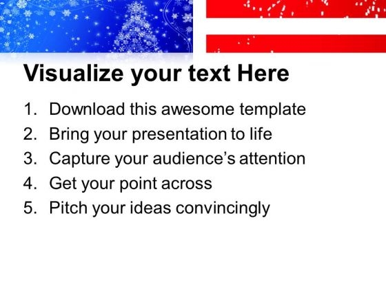 American Flag Christmas Point Templates Ppt Backgrounds For Slides 0113 Print