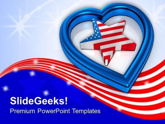 Americans Respects Their Independence PowerPoint Templates Ppt Backgrounds For Slides 0713