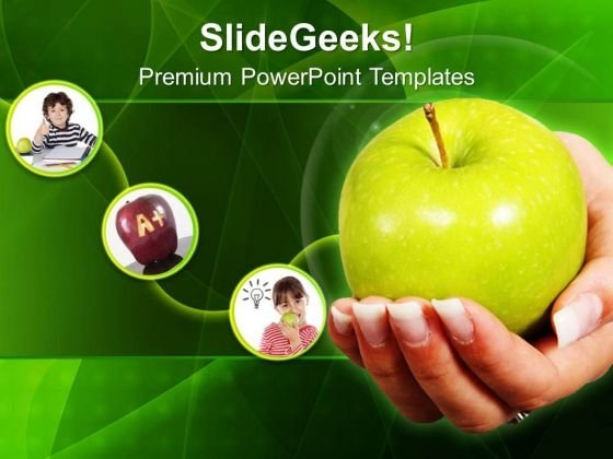 An Apple A Day Keeps Doctor Away PowerPoint Templates Ppt Backgrounds For Slides 0313