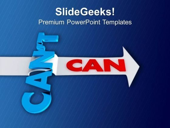 An Arrow With The Word Can Target PowerPoint Templates Ppt Backgrounds For Slides 0413