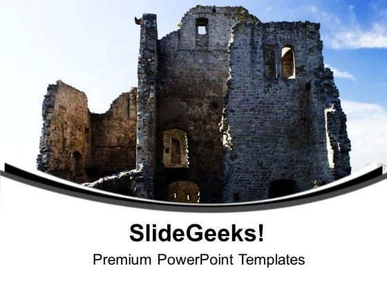 Ancient Castle Fortified Structures PowerPoint Templates Ppt Backgrounds For Slides 0613