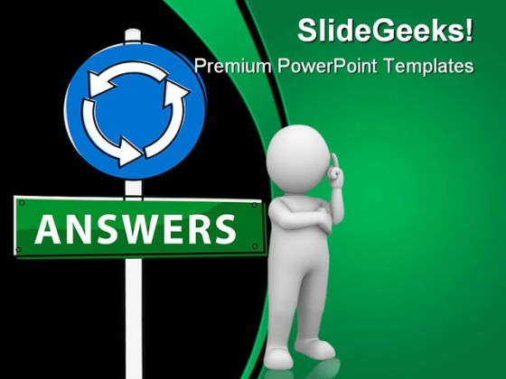 Answers Signpost Business PowerPoint Templates And PowerPoint Backgrounds 0511