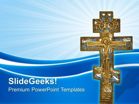 Antique Cross Christian PowerPoint Templates And PowerPoint Themes 0712