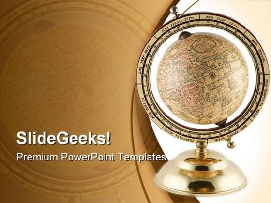 Antique Globe Geographical PowerPoint Themes And PowerPoint Slides 0311