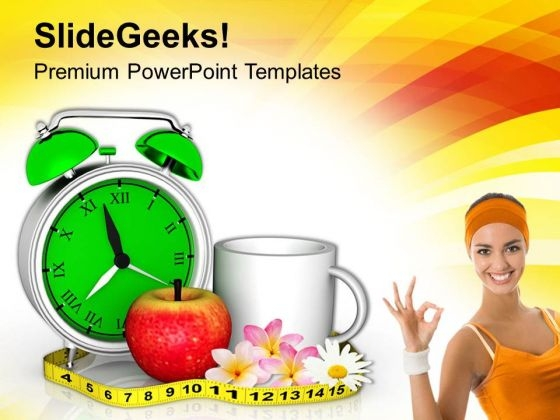 Apple And Coffee Measurement Health PowerPoint Templates Ppt Backgrounds For Slides 0413