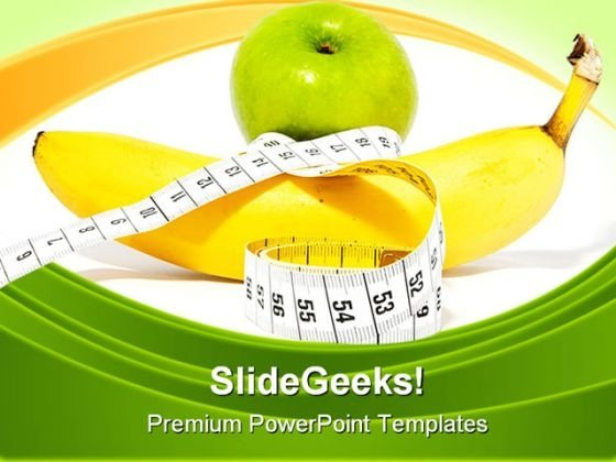 Apple Banana Diet Concept Health PowerPoint Themes And PowerPoint Slides 0211