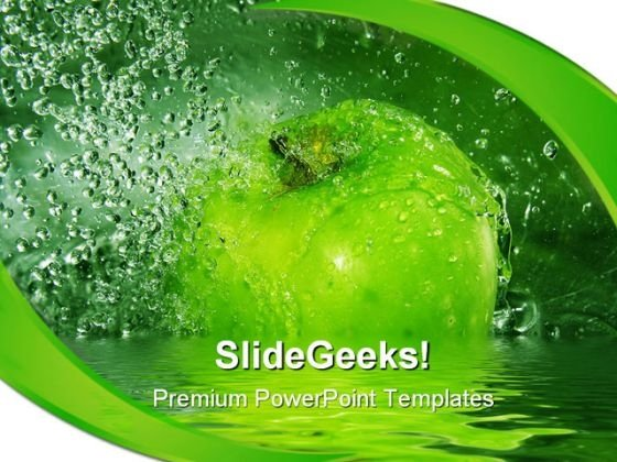 Apple Splash Health PowerPoint Templates And PowerPoint Backgrounds 0211