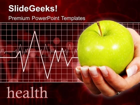Apple With Heartbeat Medical PowerPoint Templates And PowerPoint Themes 0512