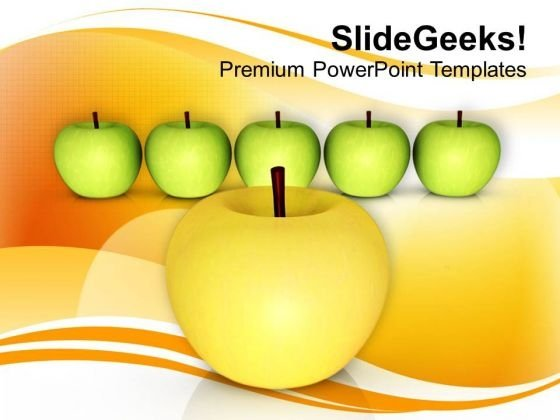 Apples Are Rich With Vitamins PowerPoint Templates Ppt Backgrounds For Slides 0513