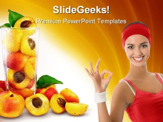 Apricots In The Glass Health PowerPoint Themes And PowerPoint Slides 0211