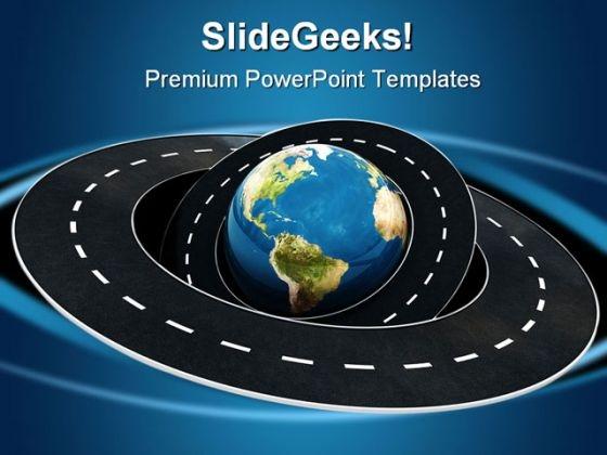 Around World Transportation PowerPoint Template 0610