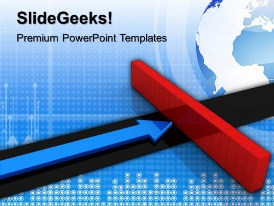 Arrow And Wall Metaphor PowerPoint Templates And PowerPoint Themes 1012