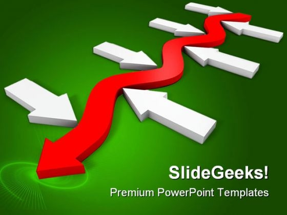 Arrow Business PowerPoint Themes And PowerPoint Slides 0511