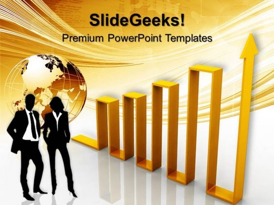 Arrow Graph Business Globe PowerPoint Templates And PowerPoint Themes 0612