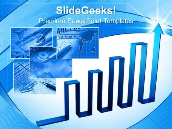 Arrow Graph Finance PowerPoint Templates And PowerPoint Themes 0612
