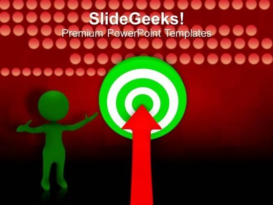 Arrow Hitting On Target Success PowerPoint Templates Ppt Backgrounds For Slides 0213