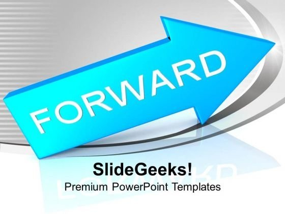 arrow moving forward business growth powerpoint templates ppt