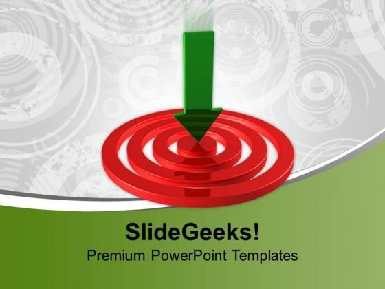 Arrow On Target Concept Success PowerPoint Templates And PowerPoint Themes 1012