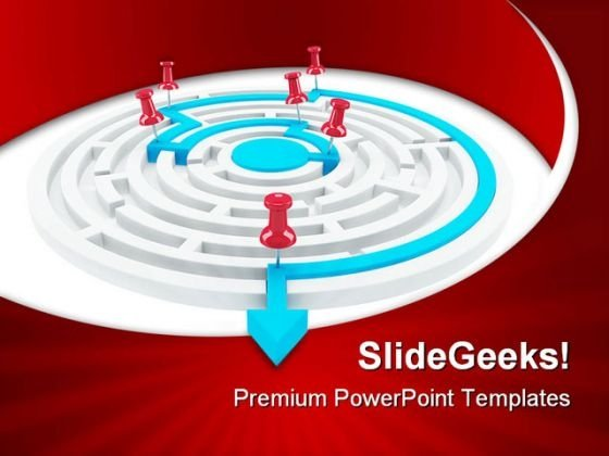 Arrow Success Maze Business PowerPoint Themes And PowerPoint Slides 0511