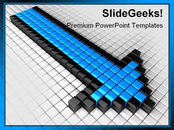Arrow Symbol PowerPoint Template 0810