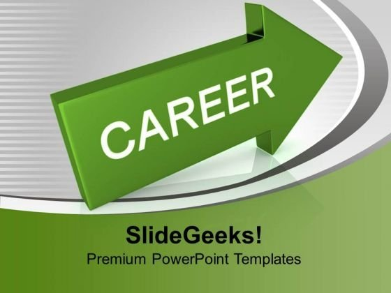 Arrow With Career Success PowerPoint Templates And PowerPoint Themes 1012