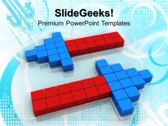 Arrow With Cubes Shapes PowerPoint Templates And PowerPoint Themes 1012