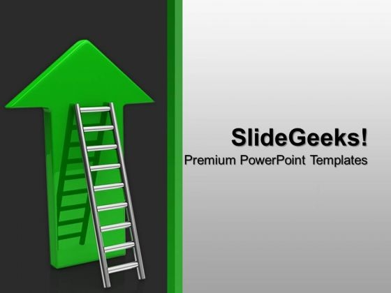 Arrow With Stairs Up Future PowerPoint Templates And PowerPoint Themes 1012