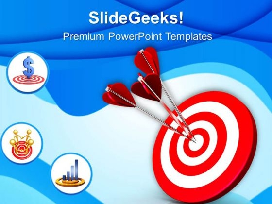 Arrows Hit The Target PowerPoint Templates Ppt Backgrounds For Slides 0813