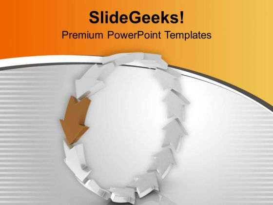 Arrows In Circle Business Strategy PowerPoint Templates Ppt Backgrounds For Slides 0413