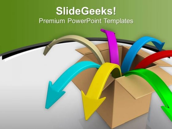 Arrows Jumping Out Of Box PowerPoint Templates Ppt Backgrounds For Slides 0713