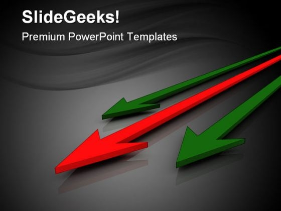 Arrows Leadership PowerPoint Themes And PowerPoint Slides 0411