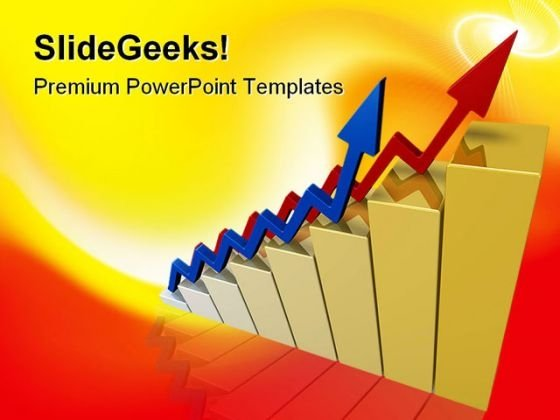 Arrows Shows Success Sales PowerPoint Themes And PowerPoint Slides 0411