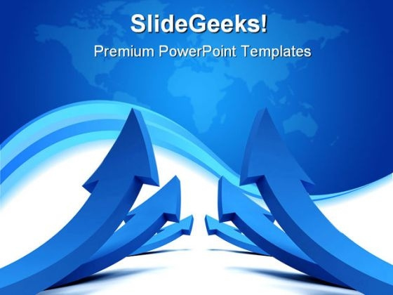 Arrows Symbol Globe PowerPoint Template 0910