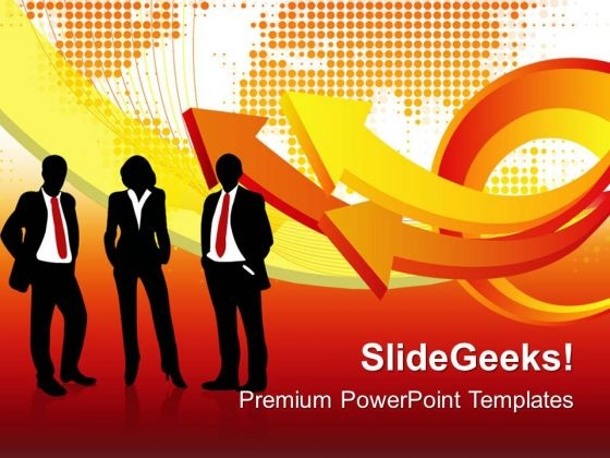 Arrows With People Global PowerPoint Templates And PowerPoint Themes 0312