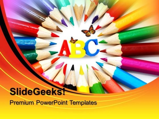 Artistic Pencils Education PowerPoint Templates And PowerPoint Themes 0512