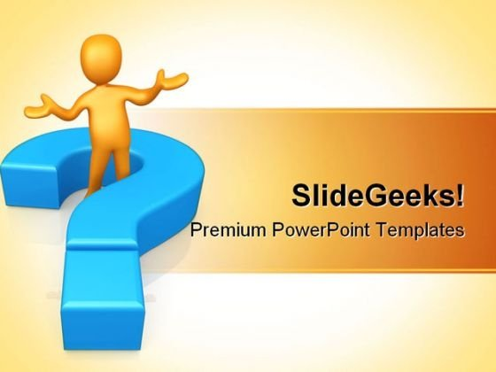 Ask A Question Business PowerPoint Themes And PowerPoint Slides 0611
