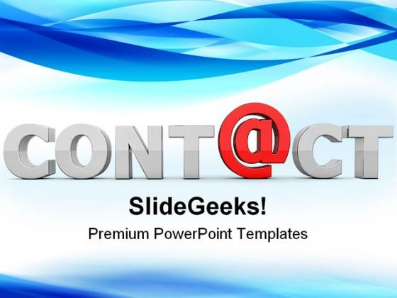 At Contact Communication PowerPoint Templates And PowerPoint Backgrounds 0211