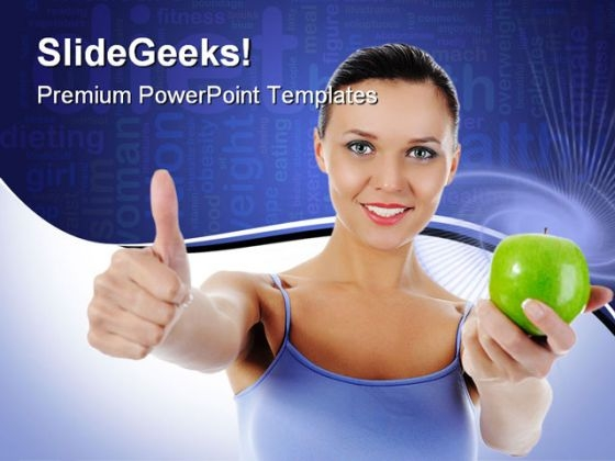 Athletic Girl Health PowerPoint Backgrounds And Templates 0111