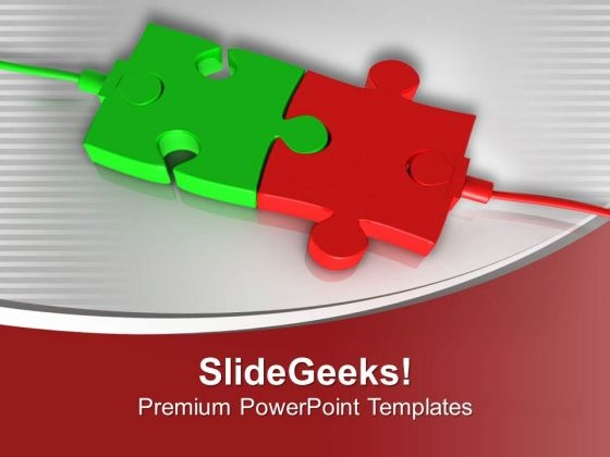 Attach Two Solution For Business PowerPoint Templates Ppt Backgrounds For Slides 0413