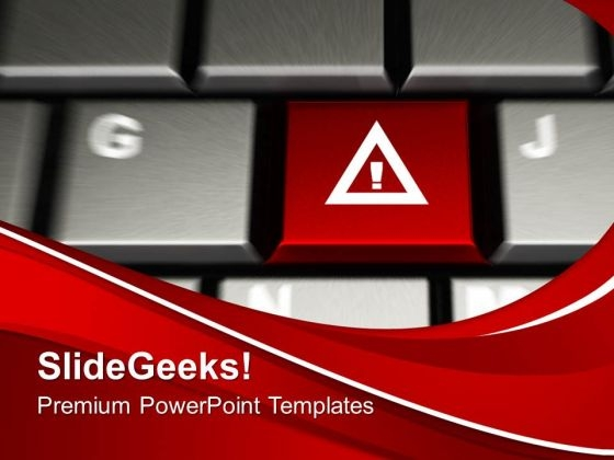 Attention Key On Computer Keyboard Security PowerPoint Templates And PowerPoint Themes 1112