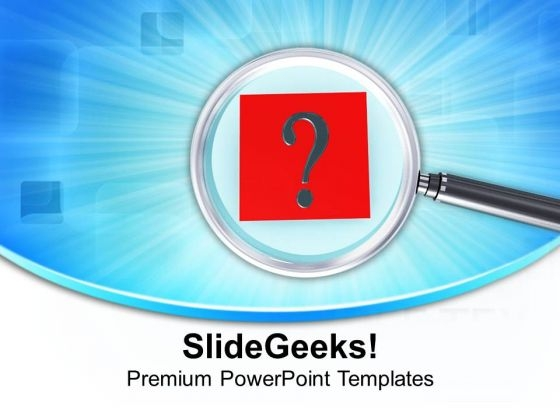 Attention On Business Queries PowerPoint Templates Ppt Backgrounds For Slides 0513