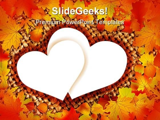 Autumn Heart Nature PowerPoint Backgrounds And Templates 0111